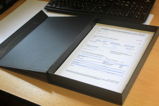 A4 Document matte Black presentation box