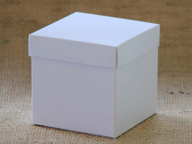 140mm white Cube box
