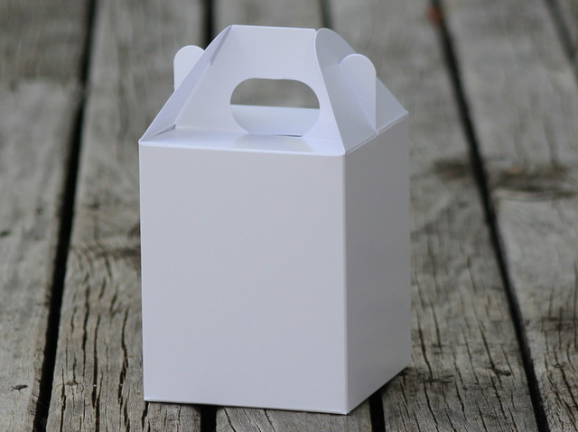 Large white handle box